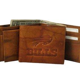 Buffalo Bills Genuine Leather Vintage Billfold Wallet