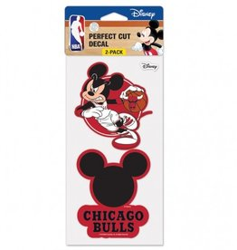 WINCRAFT Chicago Bulls Set of Two DISNEY 4x4 Perfect Cut Decals