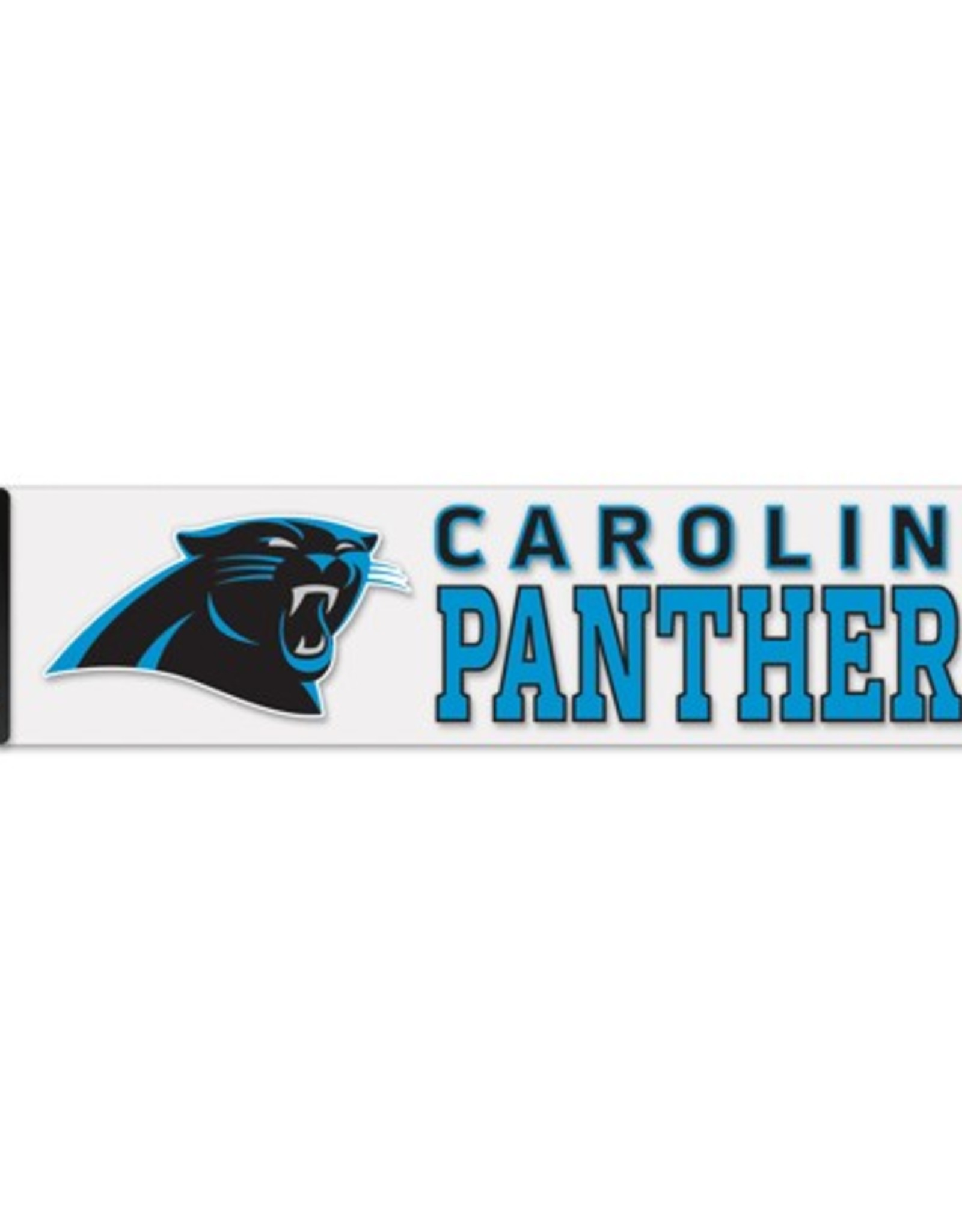 """WINCRAFT Carolina Panthers 4""""x17"""" Perfect Cut Decals"""