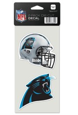 Carolina Panthers Set of Two 4x4 Perfect Cut Decals