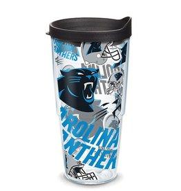 Carolina Panthers 24oz Tervis All Over Print Tumbler