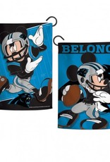 "WINCRAFT Carolina Panthers Disney Mickey Mouse 12.5"" x 18"" Garden Flag"