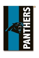 "EVERGREEN Carolina Panthers 28"" x 44"" Striped House Flag"