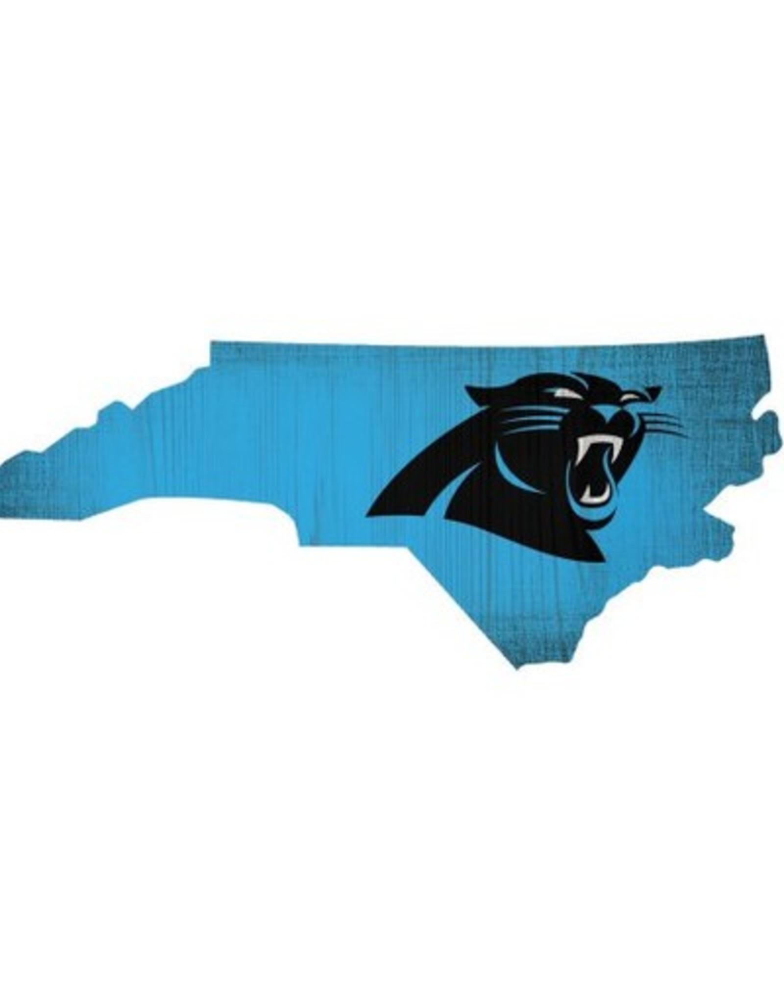 FAN CREATIONS Carolina Panthers Team Logo State Sign