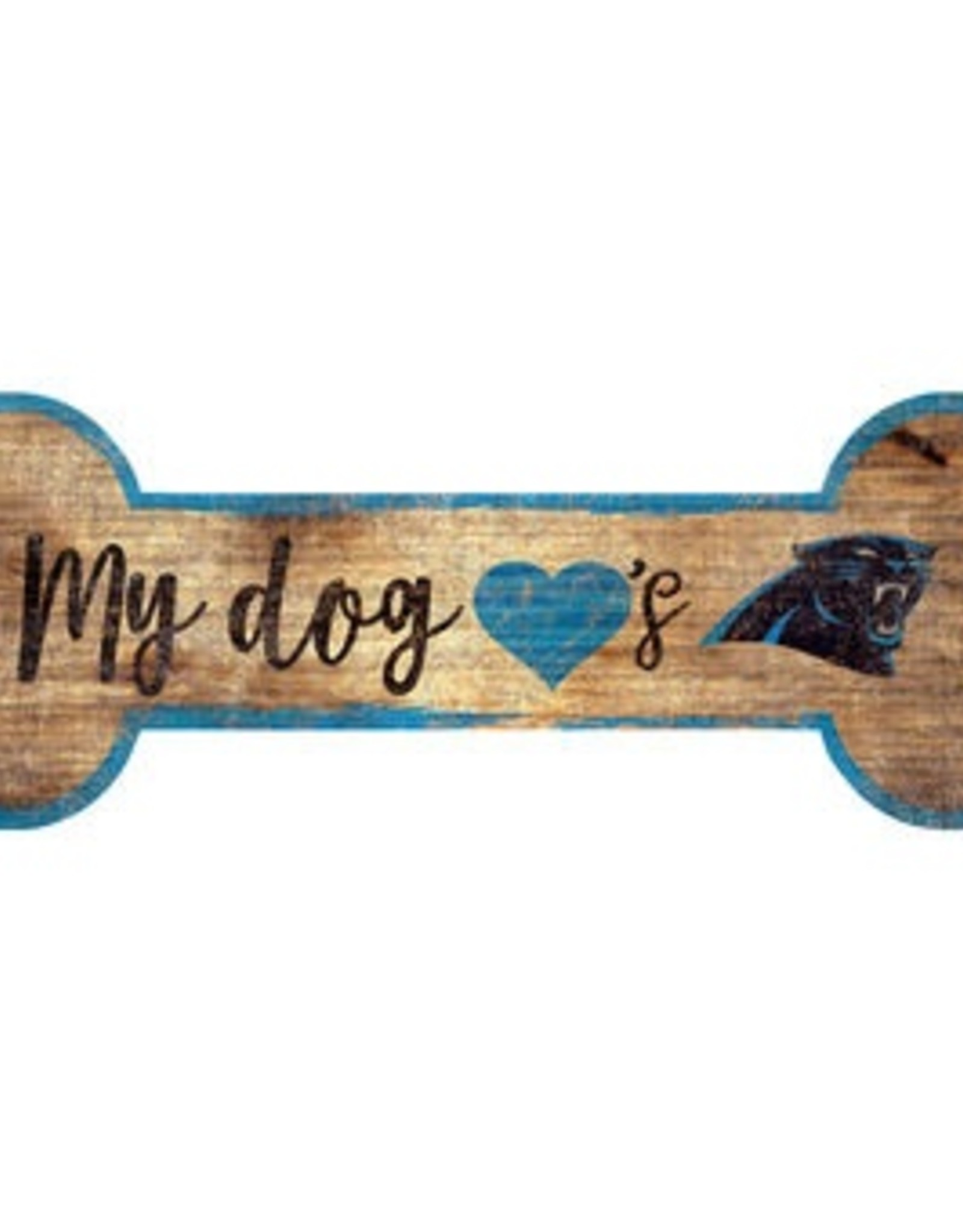 FAN CREATIONS Carolina Panthers Dog Bone Sign