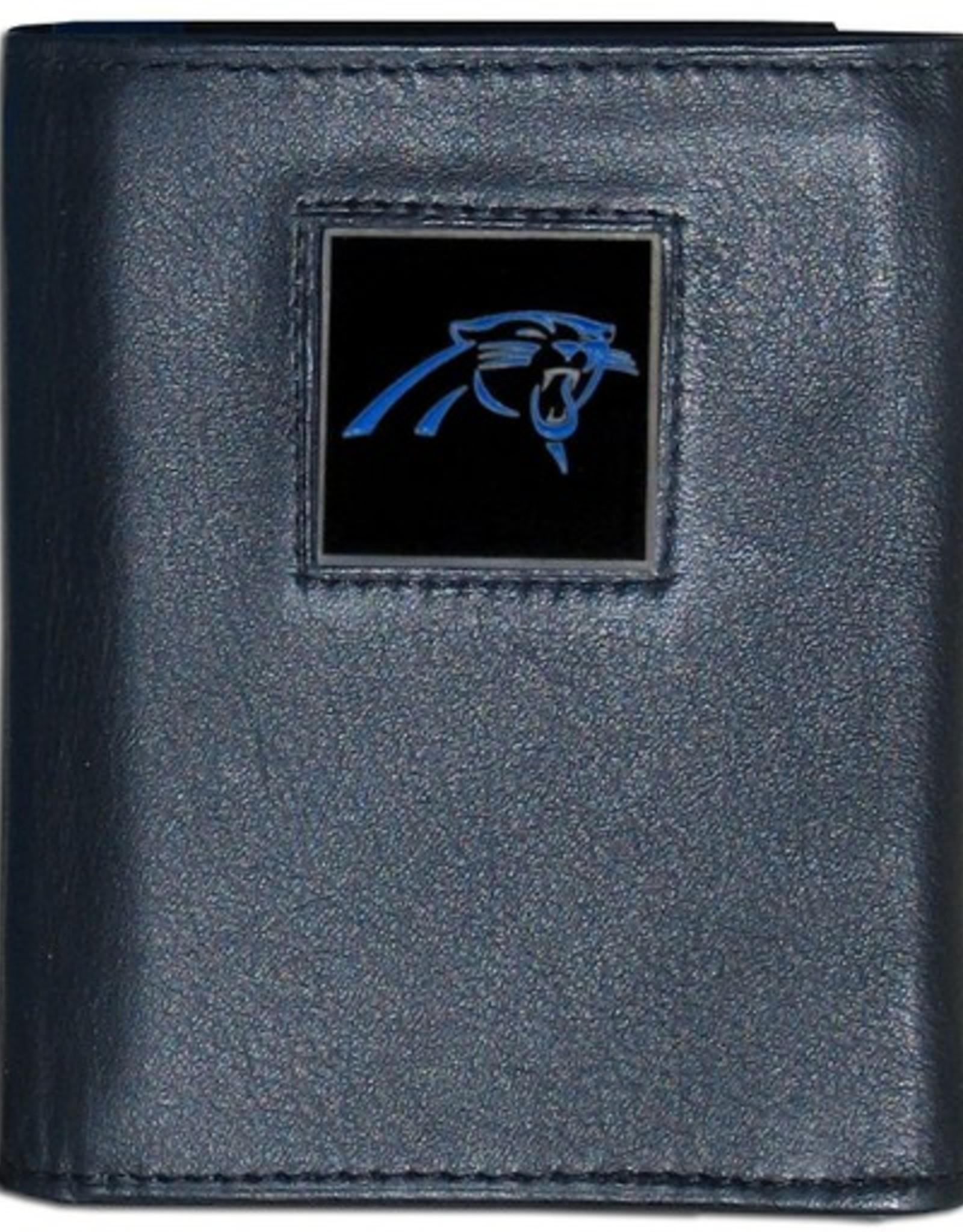 Carolina Panthers Executive Black Leather Trifold Wallet
