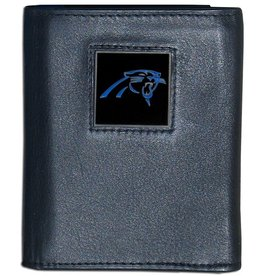 Carolina Panthers Executive Black Leather Trifold Wallet