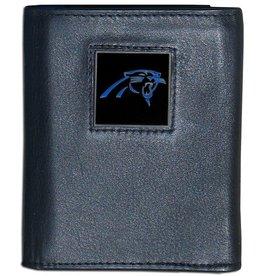 SISKIYOU GIFTS Carolina Panthers Executive Black Leather Trifold Wallet