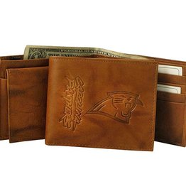 RICO INDUSTRIES Carolina Panthers Genuine Leather Vintage Billfold Wallet