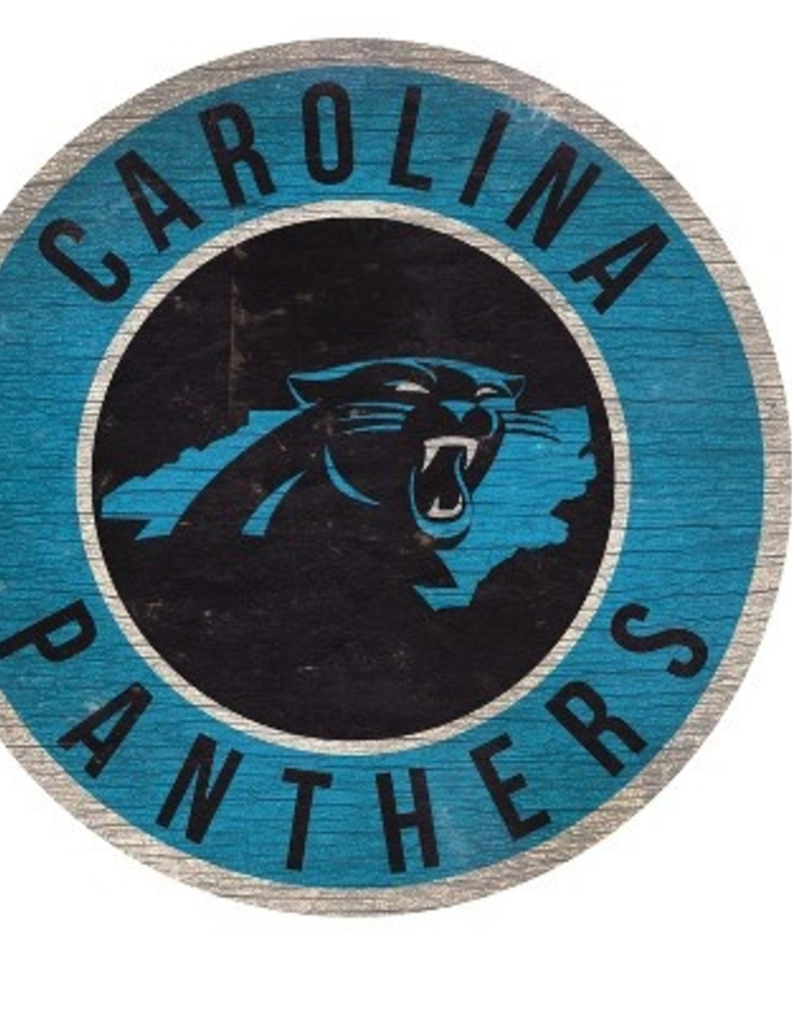 FAN CREATIONS Carolina Panthers Round State Sign
