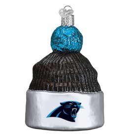 OLD WORLD CHRISTMAS Carolina Panthers Beanie Ornament
