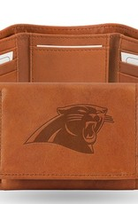 RICO INDUSTRIES Carolina Panthers Genuine Leather Vintage Trifold Wallet