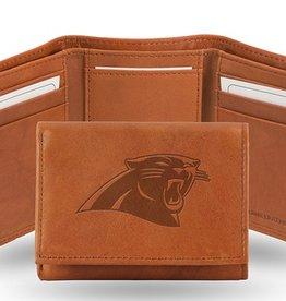 Carolina Panthers Genuine Leather Vintage Trifold Wallet