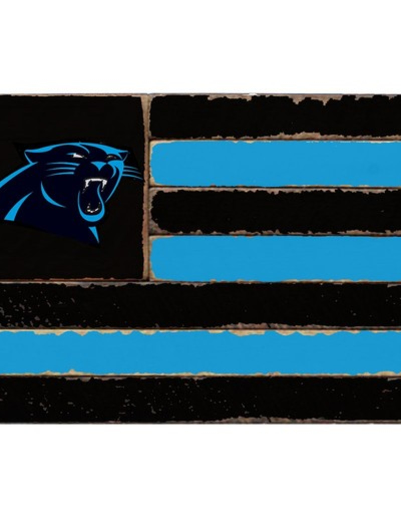 RUSTIC MARLIN Carolina Panthers Rustic Team Flag