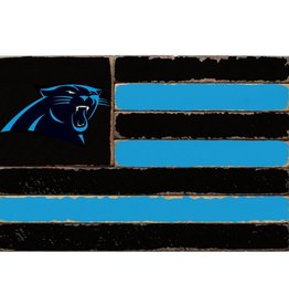 RUSTIC MARLIN Carolina Panthers Rustic Team Flag