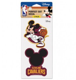 WINCRAFT Cleveland Cavaliers LeBron James Set of Two DISNEY 4x4 Perfect Cut Decals