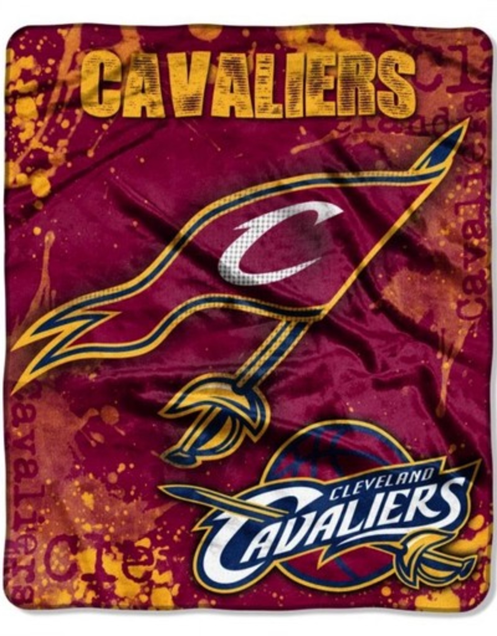 "Cleveland Cavaliers 50in x 60in ""Dropdown"" Royal Plush Raschel Throw"