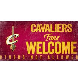 FAN CREATIONS Cleveland Cavaliers Fans Welcome Sign