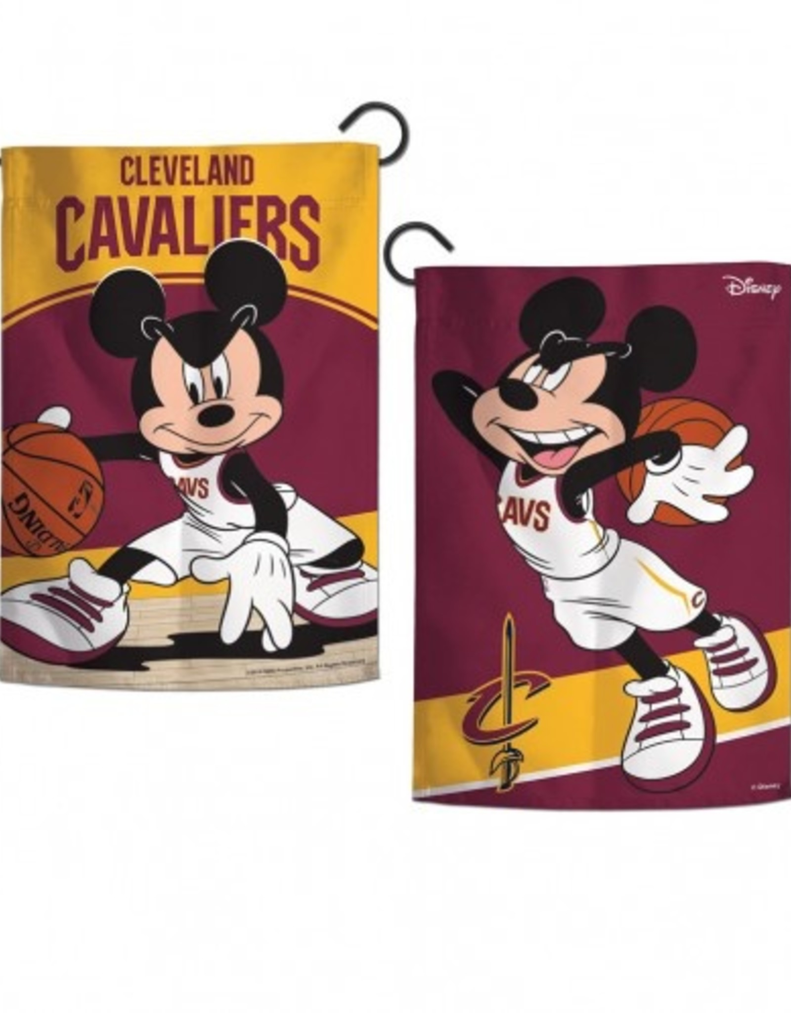 "WINCRAFT Cleveland Cavaliers Disney Mickey Mouse 12.5"" x 18"" Garden Flag"