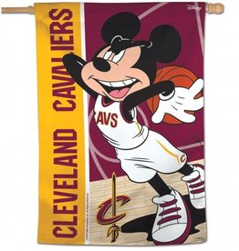 "WINCRAFT Cleveland Cavaliers Disney Mickey Mouse 28"" x 40"" House Flag"