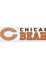 """WINCRAFT Chicago Bears 4""""x17"""" Perfect Cut Decals"""