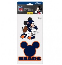 WINCRAFT Chicago Bears Set of Two DISNEY 4x4 Perfect Cut Decals