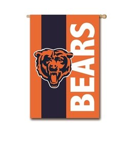 "EVERGREEN Chicago Bears 28"" x 44"" Striped House Flag"
