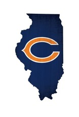 FAN CREATIONS Chicago Bears Team Logo State Sign