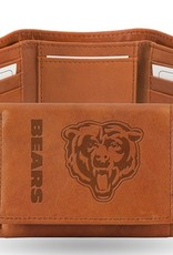 RICO INDUSTRIES Chicago Bears Genuine Leather Vintage Trifold Wallet