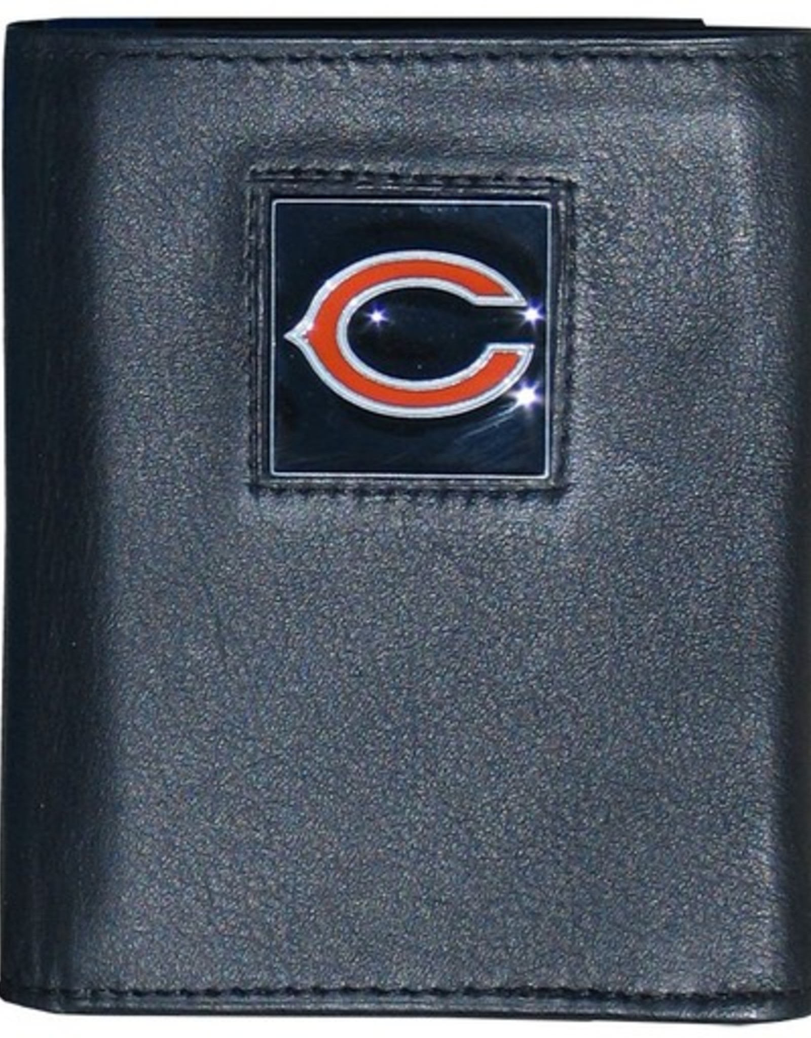 SISKIYOU GIFTS Chicago Bears Executive Black Leather Trifold Wallet