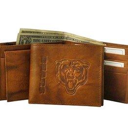 Chicago Bears Genuine Leather Vintage Billfold Wallet