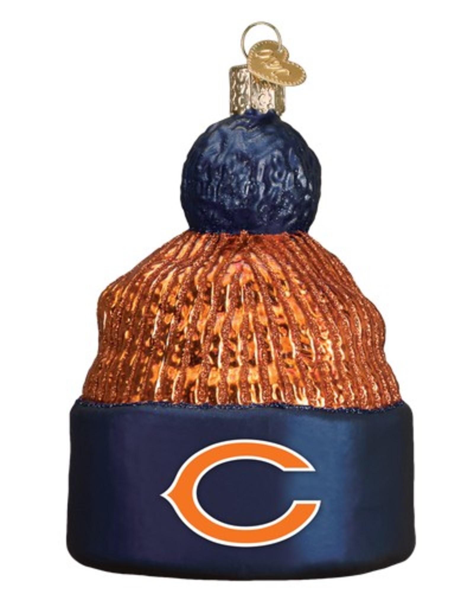 OLD WORLD CHRISTMAS Chicago Bears Beanie Ornament