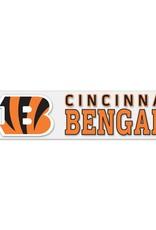 """WINCRAFT Cincinnati Bengals 4""""x17"""" Perfect Cut Decals"""