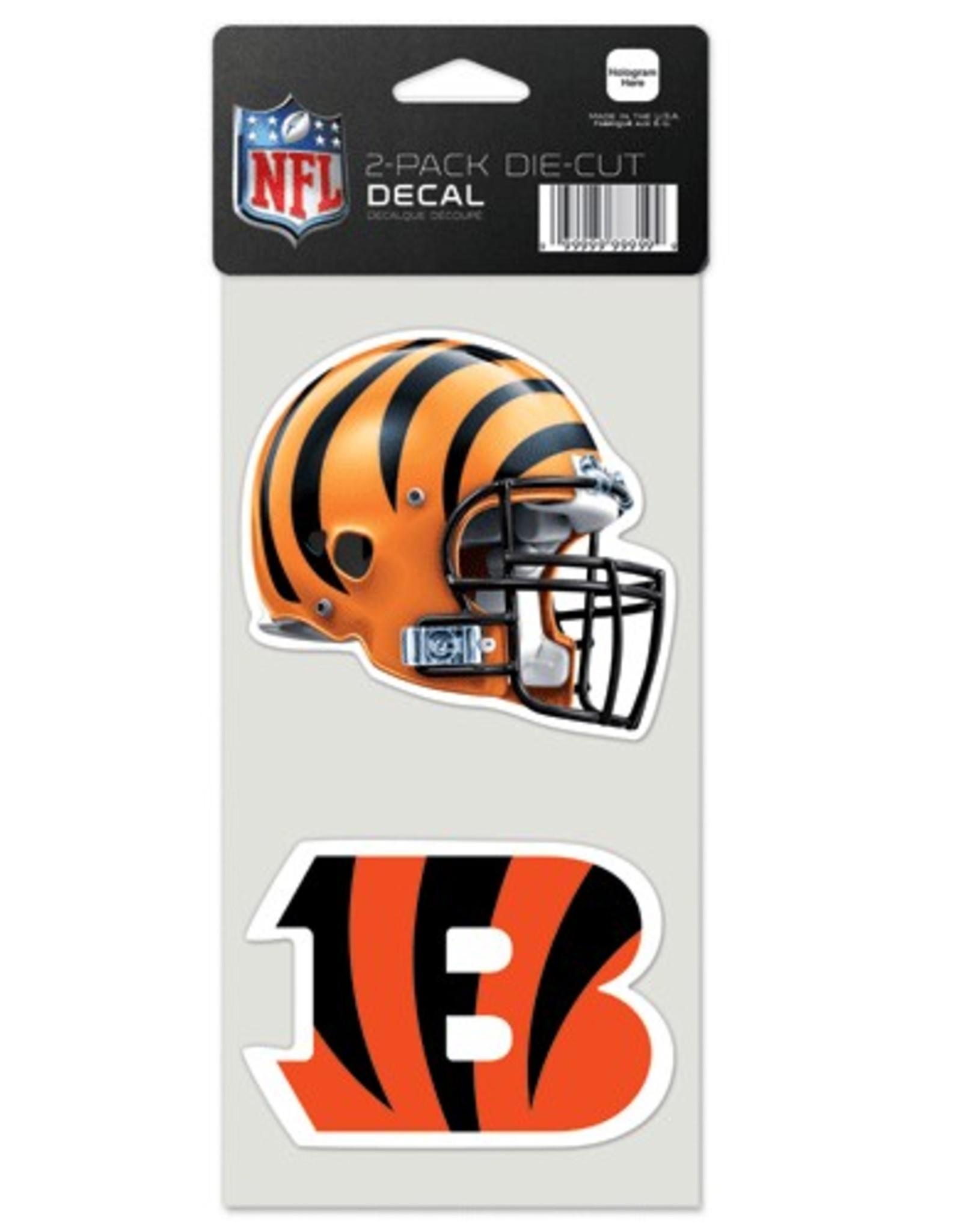 Cincinnati Bengals Set of Two 4x4 Perfect Cut Decals