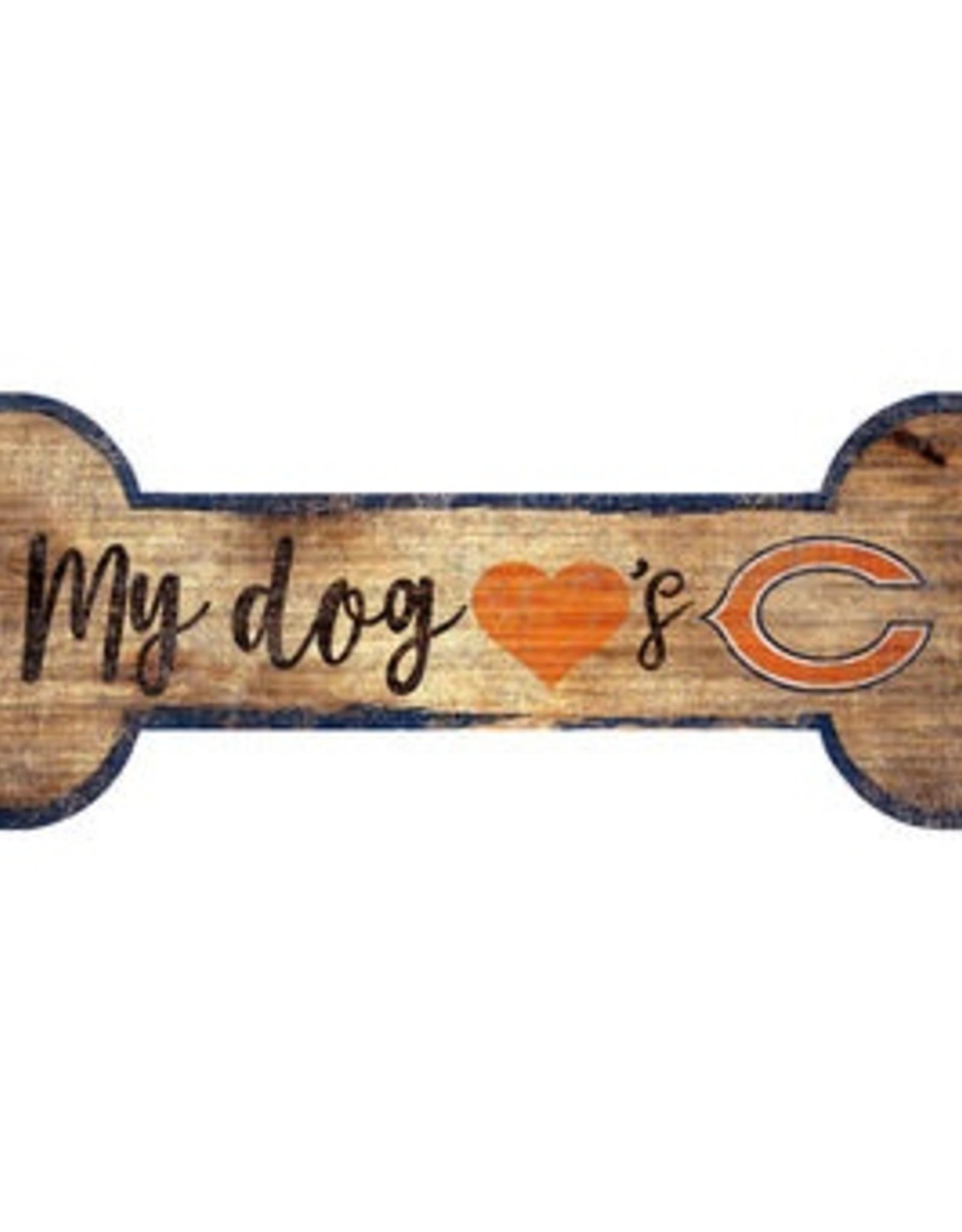 FAN CREATIONS Chicago Bears Dog Bone Wood Sign