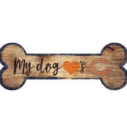 FAN CREATIONS Chicago Bears Dog Bone Sign