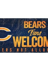 FAN CREATIONS Chicago Bears Fans Welcome Sign