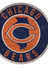 FAN CREATIONS Chicago Bears Round State Sign