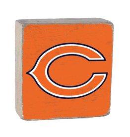 RUSTIC MARLIN Chicago Bears Rustic Wood Team Block
