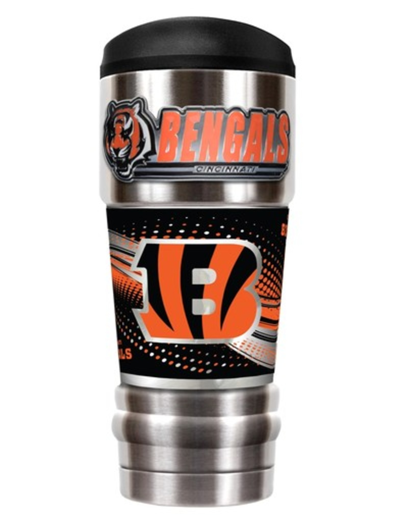 GREAT AMERICAN PRODUCTS Cincinnati Bengals 18oz The MVP Stainless Tumbler