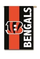 "EVERGREEN Cincinnati Bengals 28"" x 44"" Striped House Flag"