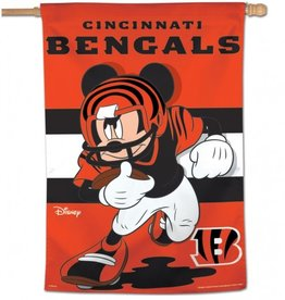 "WINCRAFT Cincinnati Bengals Disney Mickey Mouse 28"" x 40"" House Flag"