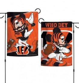 "WINCRAFT Cincinnati Bengals Disney Mickey Mouse 12.5"" x 18"" Garden Flag"