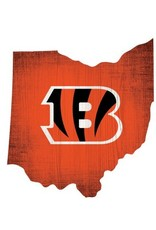 FAN CREATIONS Cincinnati Bengals Team Logo State Sign
