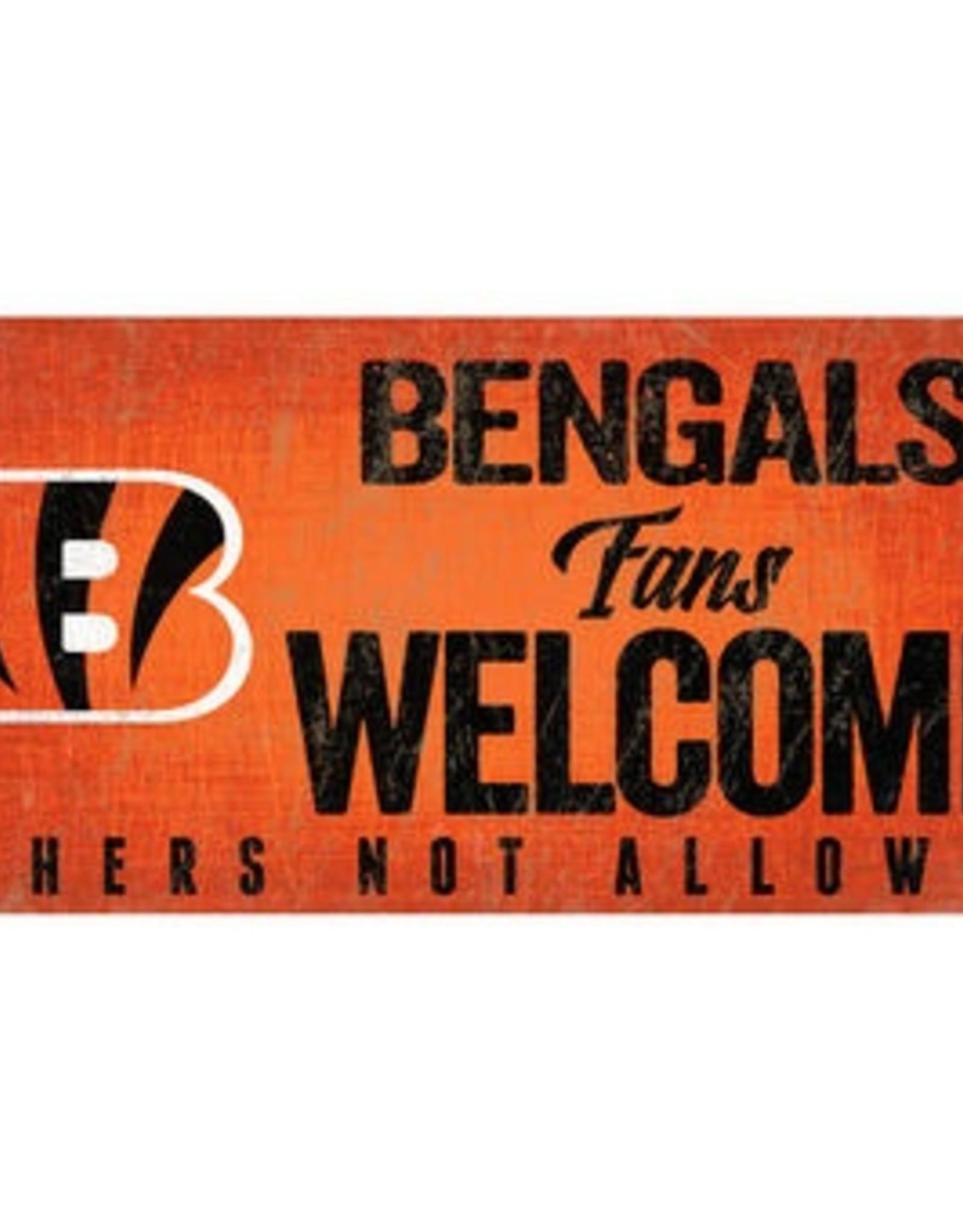 FAN CREATIONS Cincinnati Bengals Fans Welcome Sign