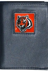 Cincinnati Bengals Executive Black Leather Trifold Wallet