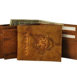 Cincinnati Bengals Genuine Leather Vintage Billfold Wallet
