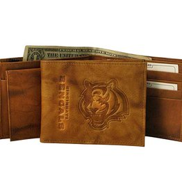 RICO INDUSTRIES Cincinnati Bengals Genuine Leather Vintage Billfold Wallet
