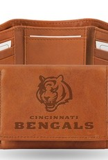 RICO INDUSTRIES Cincinnati Bengals Genuine Leather Vintage Trifold Wallet