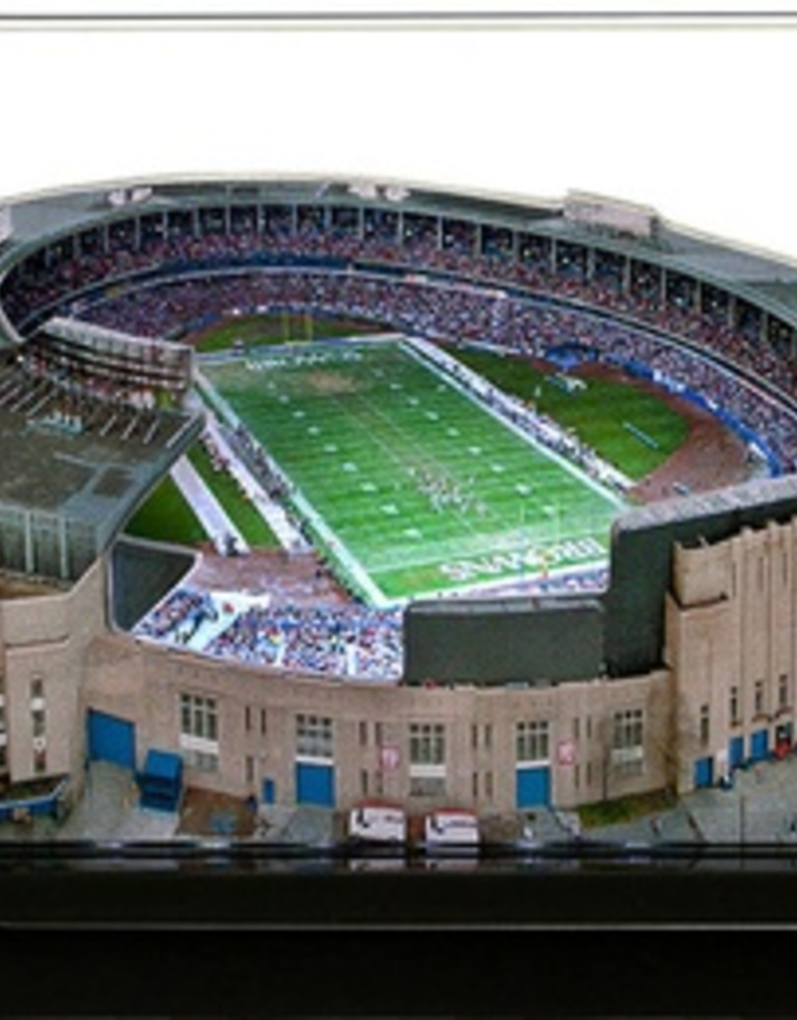 HOMEFIELDS Cleveland Browns 19IN Lighted Replica Cleveland Municipal Stadium (1931-1995)